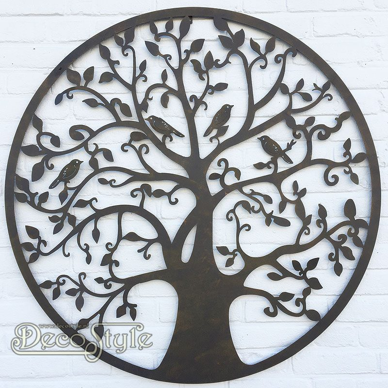 Wandversiering Voor Buiten.Metalen Wanddeco Levensboom